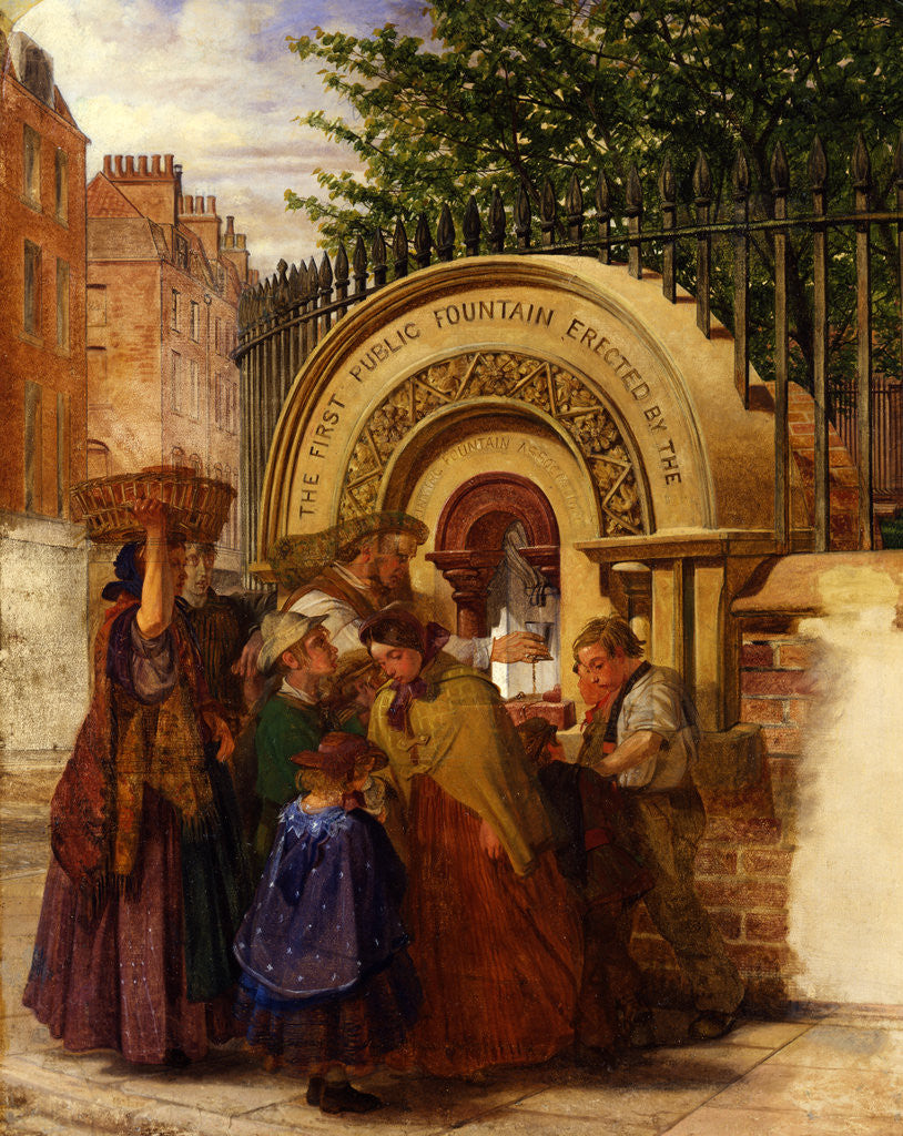 Detail of Study for the First Public Drinking Fountain by W. A. Atkinson