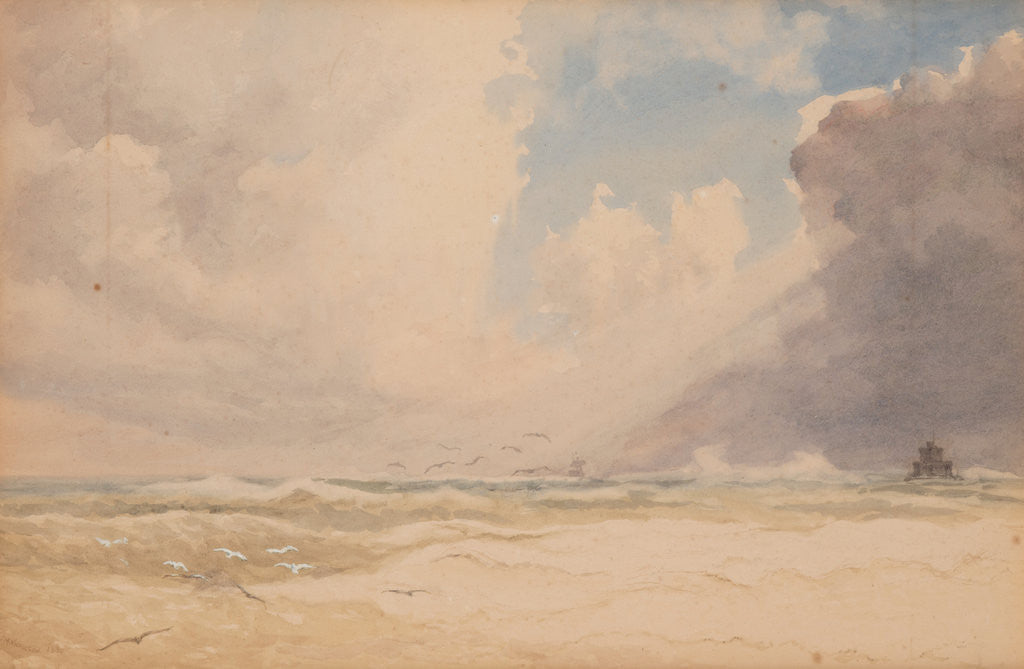 Detail of Storm, Douglas Bay by John Miller Nicholson