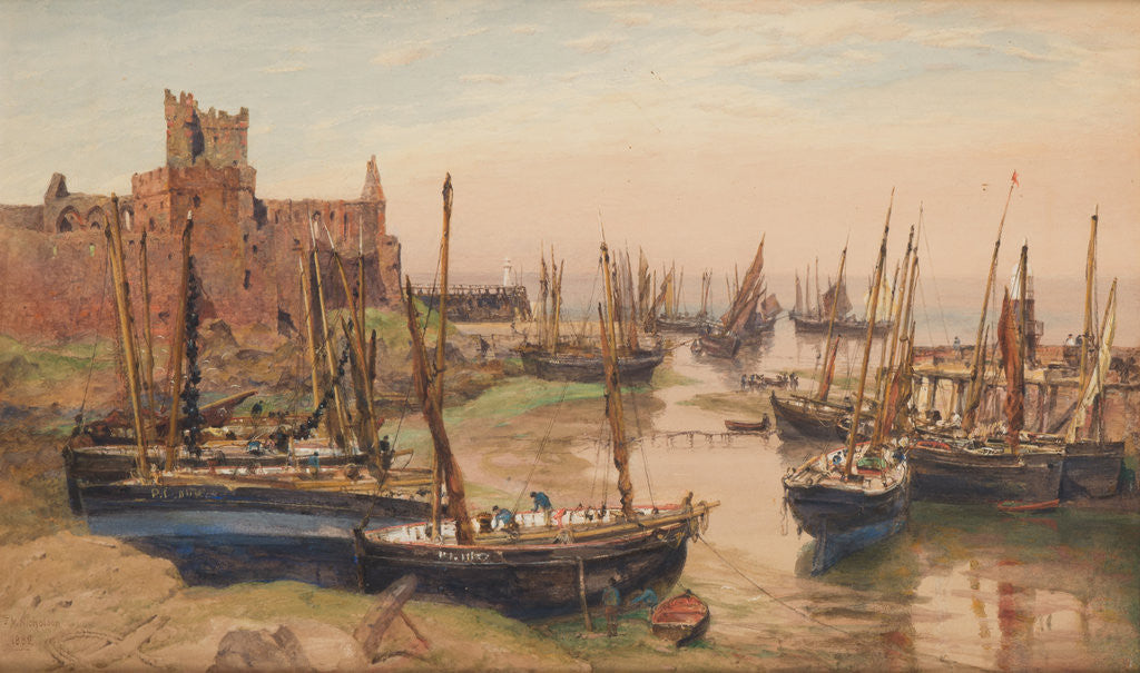 Detail of Peel Castle and Harbour by John Miller Nicholson