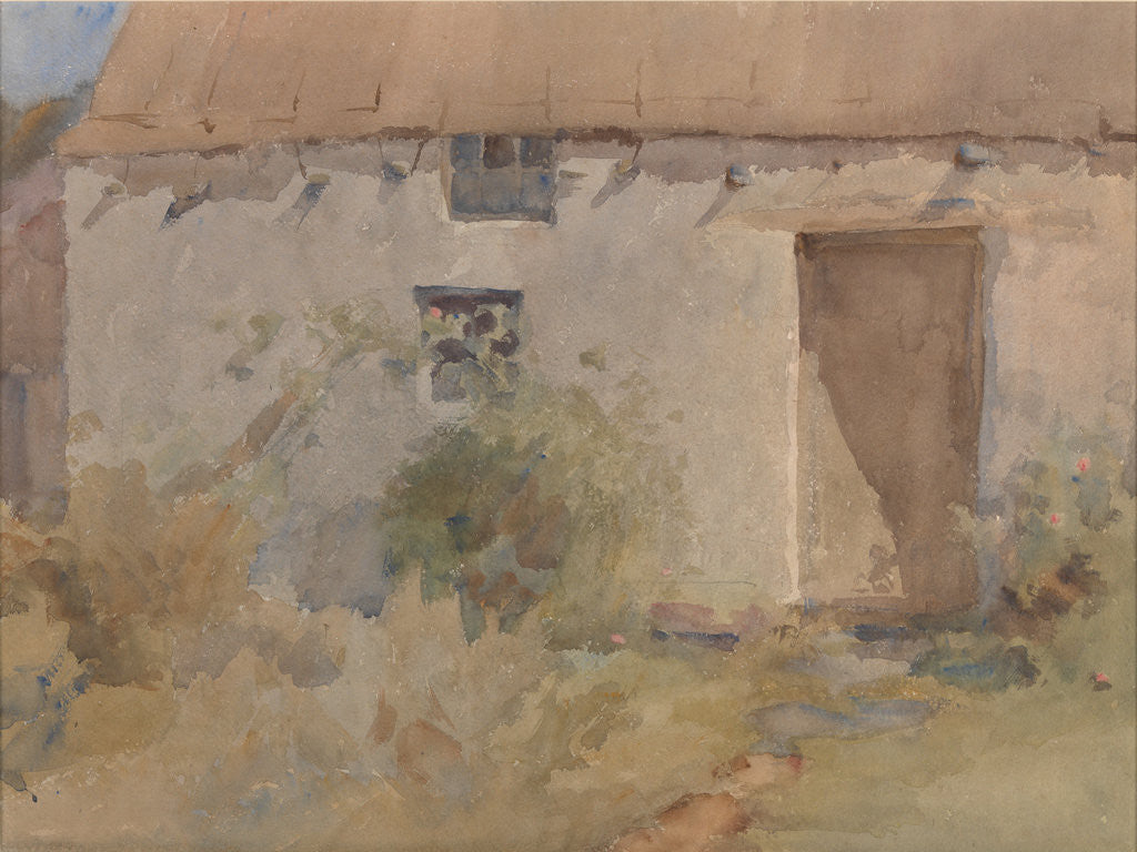 Detail of A Manx Thatched House by Archibald Knox