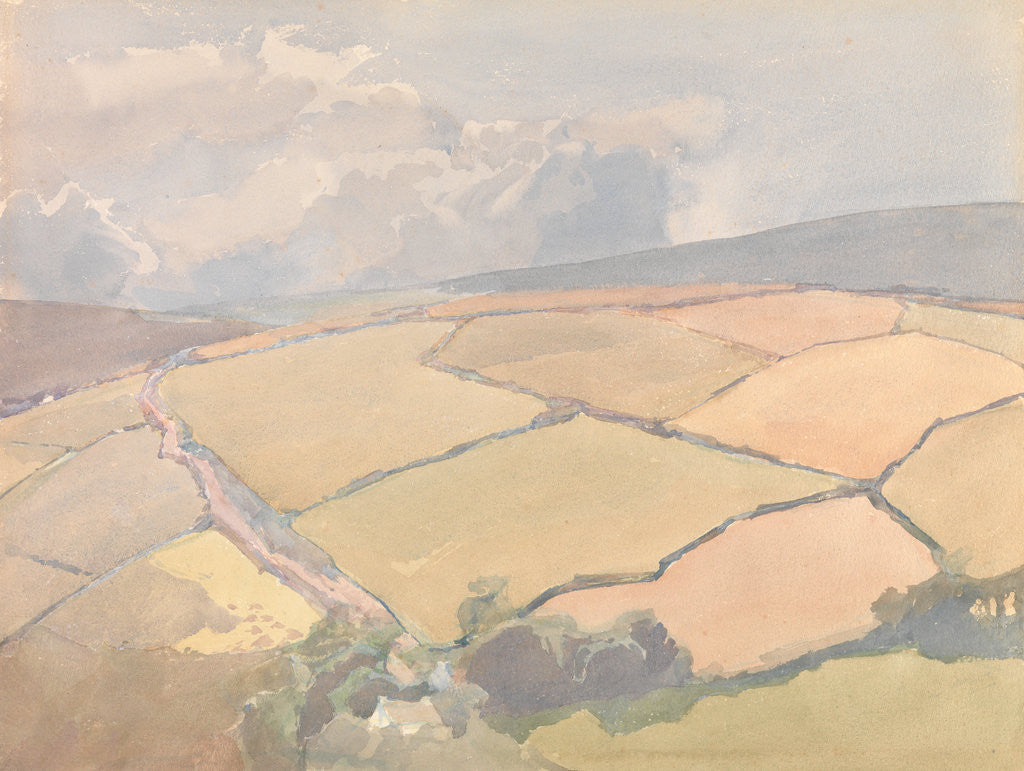 Detail of The Steep Roadway (The Ards, Maughold) by Archibald Knox