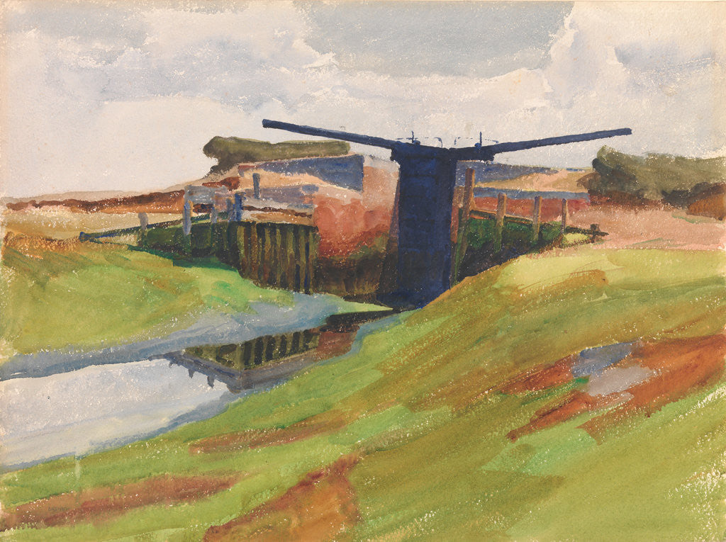 Detail of The Lock Gates, Birdham, Sussex by Archibald Knox