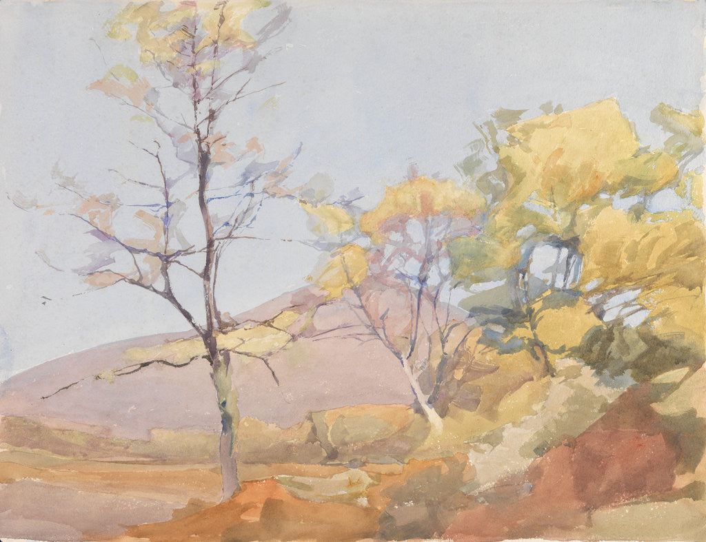 Detail of A Spring Landscape by Archibald Knox
