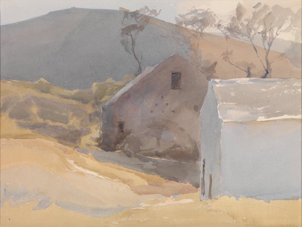 Detail of Watermill with Hills Beyond by Archibald Knox