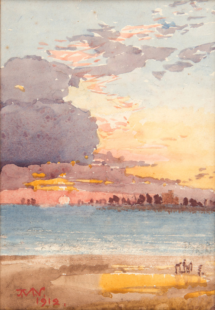 Detail of Sunrise, arrival of the herring fleet by John Miller Nicholson