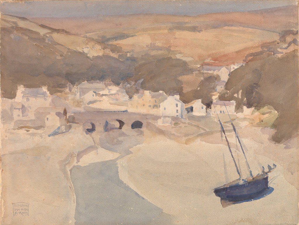 Detail of Old Laxey, Lonan by Archibald Knox