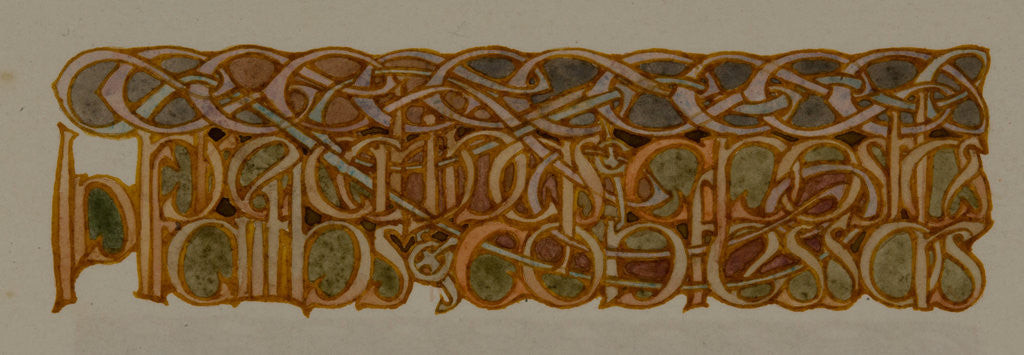 Detail of In preachings of apostles faiths of confessors, The Deer's Cry (St Patrick's Hymn) by Archibald Knox