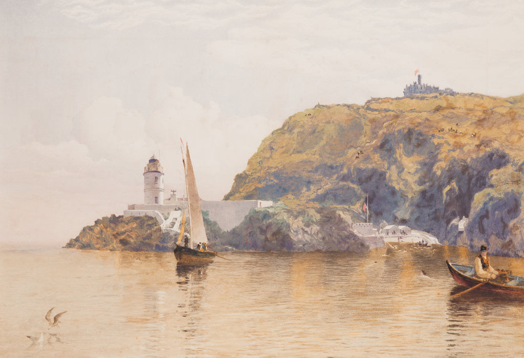 Detail of Douglas Head and Lighthouse by John Miller Nicholson