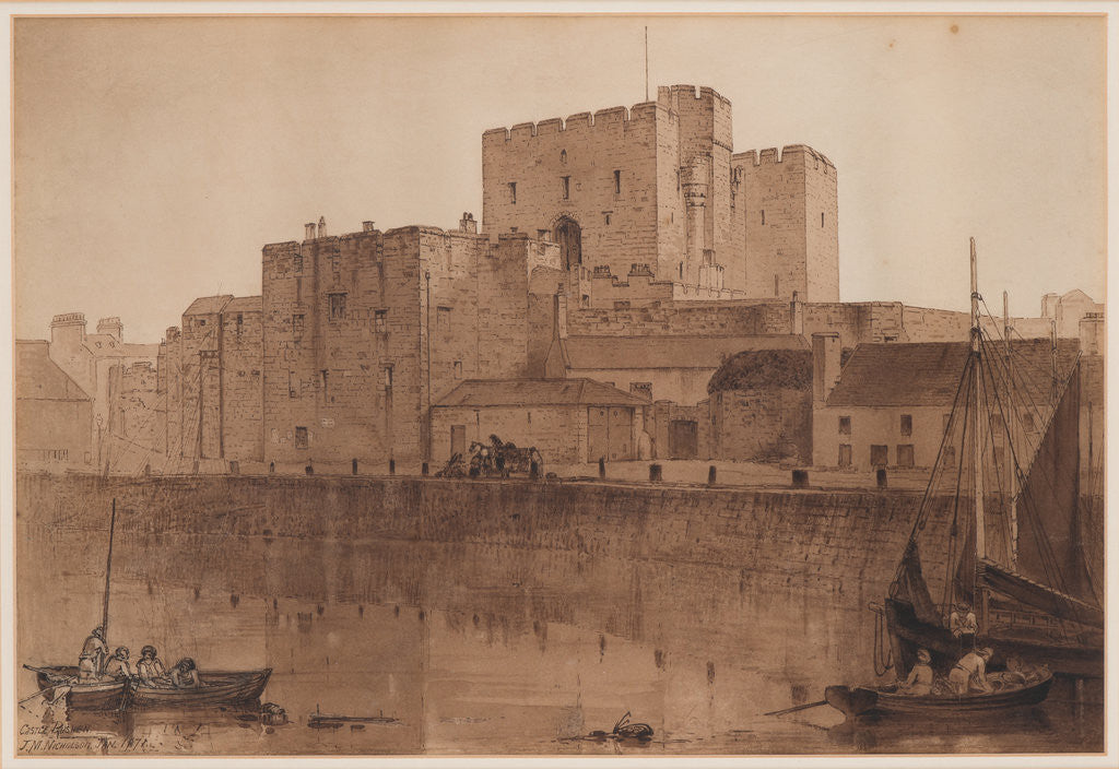Detail of Castle Rushen by John Miller Nicholson