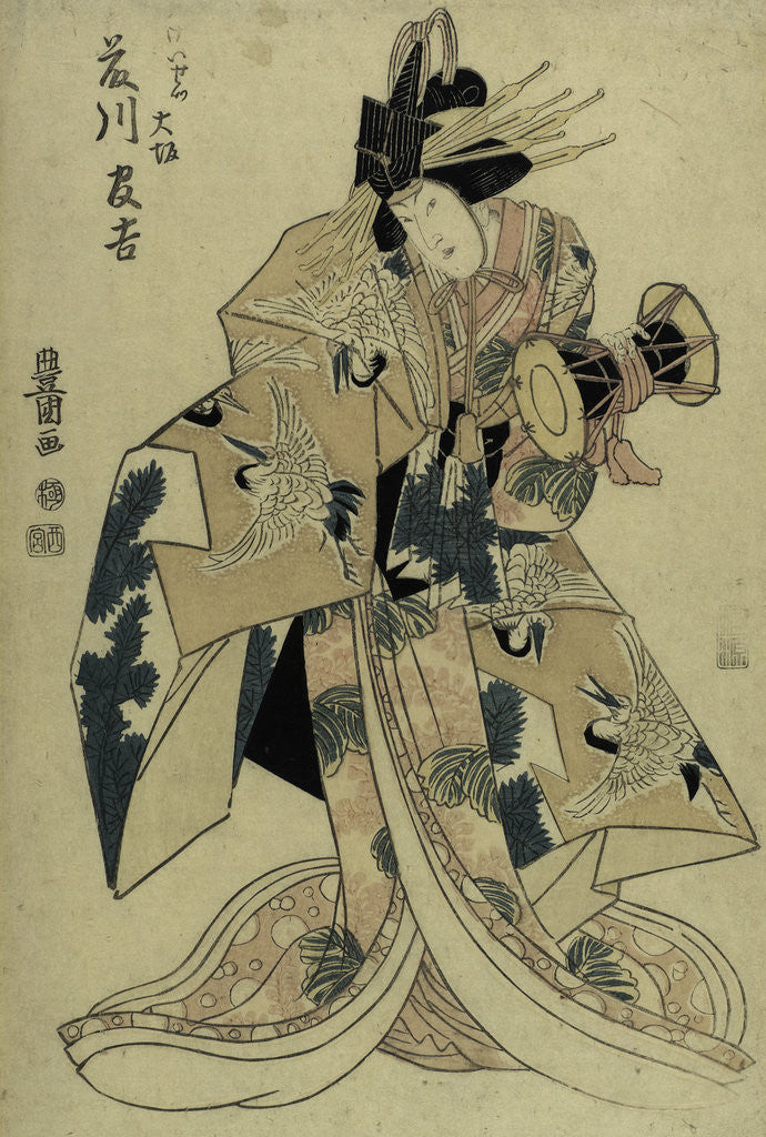 Detail of Kabuki Actor in a Female Role (Onnagata) by Utagawa Toyokuni