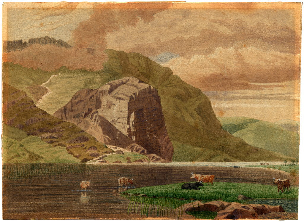 Detail of Llyn Llewellyn by Robert Evans Creer