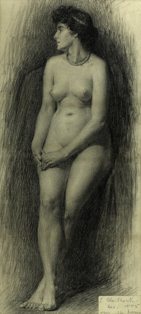 Detail of Standing Female Nude by Thomas Bromley Blacklock