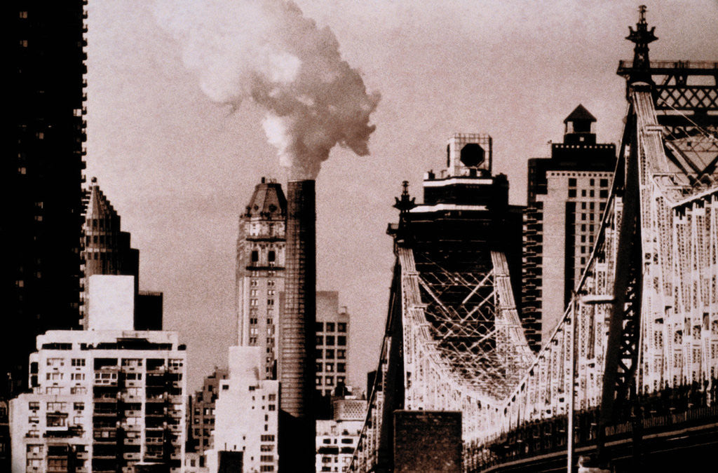 Detail of New York Industry by Phillipe Delmouz