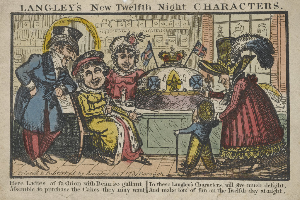 Detail of LANGLEY'S New Twelfth Night CHARACTERS, envelope by Langley and Company