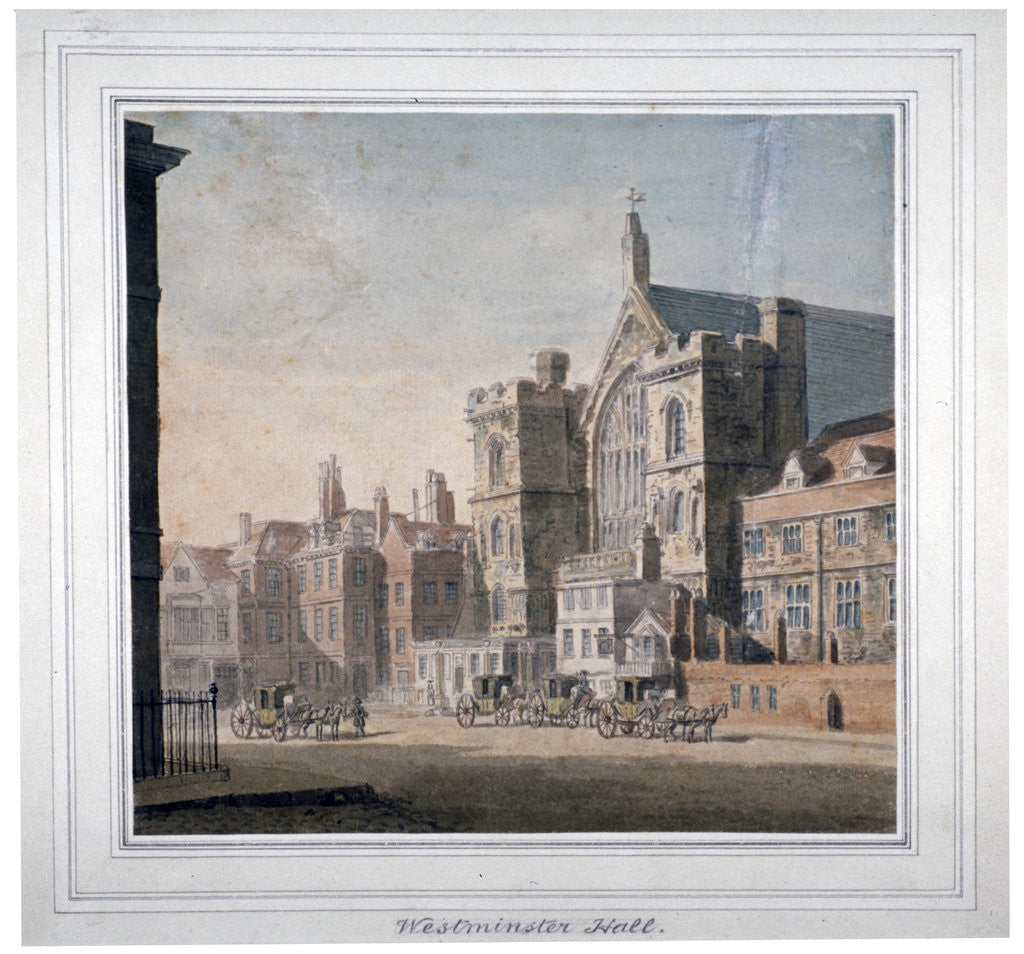 Detail of View of Westminster Halll and New Palace Yard, London by Anonymous