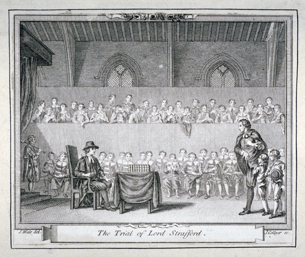 Detail of The Trial of Thomas Wentworth, Earl of Strafford, Westminster Hall, London, 1641 by J Collyer