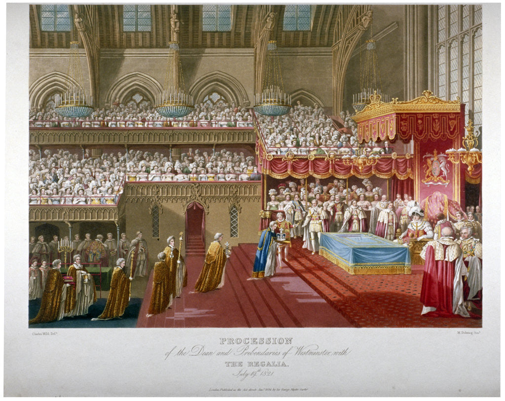 Detail of Coronation of King George IV, Westminster Hall, London, 1821 by Matthew Dubourg