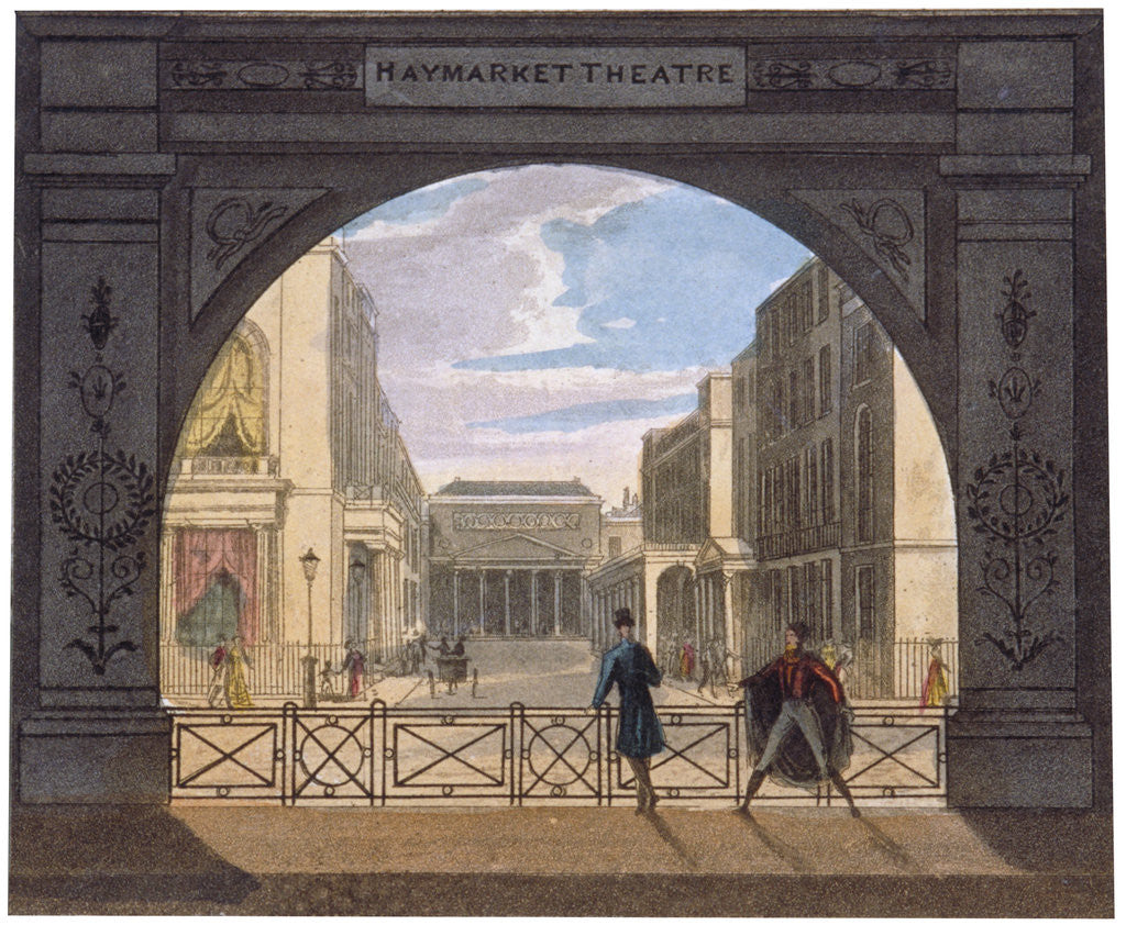 Detail of View of the Haymarket Theatre, London by Anonymous