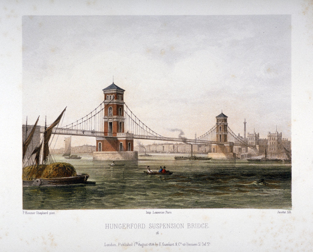 Detail of View of Hungerford Bridge from the east, London by