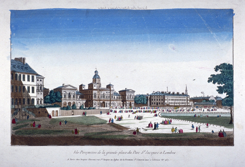 Detail of View of Horse Guards, Westminster, London by Anonymous