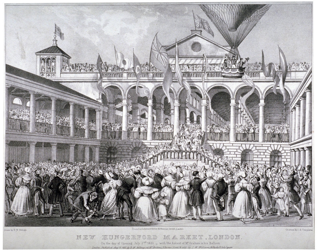 Detail of The re-opening of Hungerford Market, Westminster, London by JS Templeton
