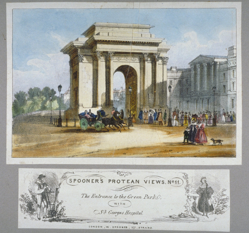 Detail of Hyde Park Corner, London by William Spooner