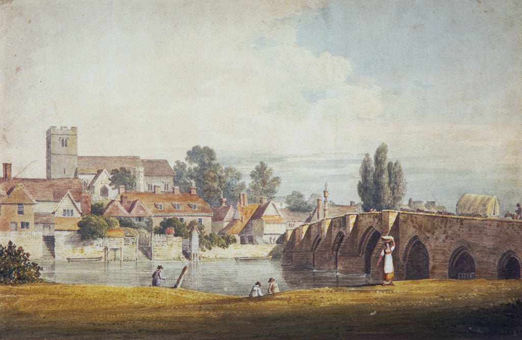 Detail of Aylesford, near Maidstone, Kent by James Duffield Harding