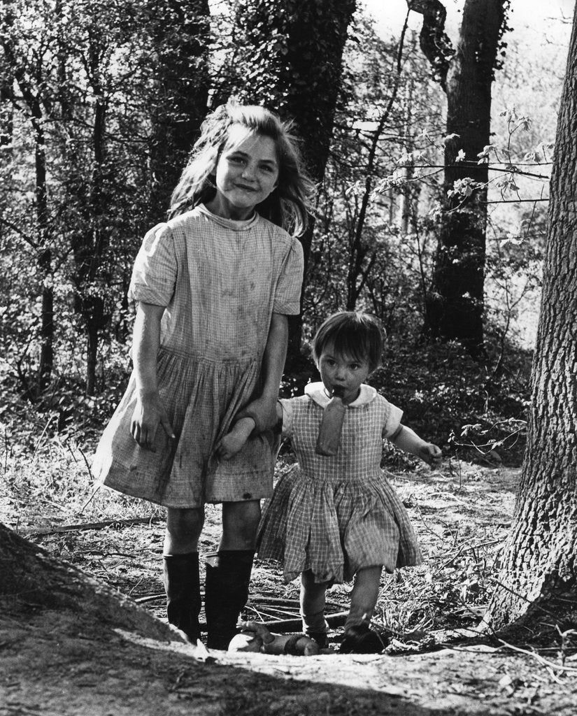 Detail of Janie and Daphne, gipsy girls, Charlwood, Surrey, 1964 by Tony Boxall