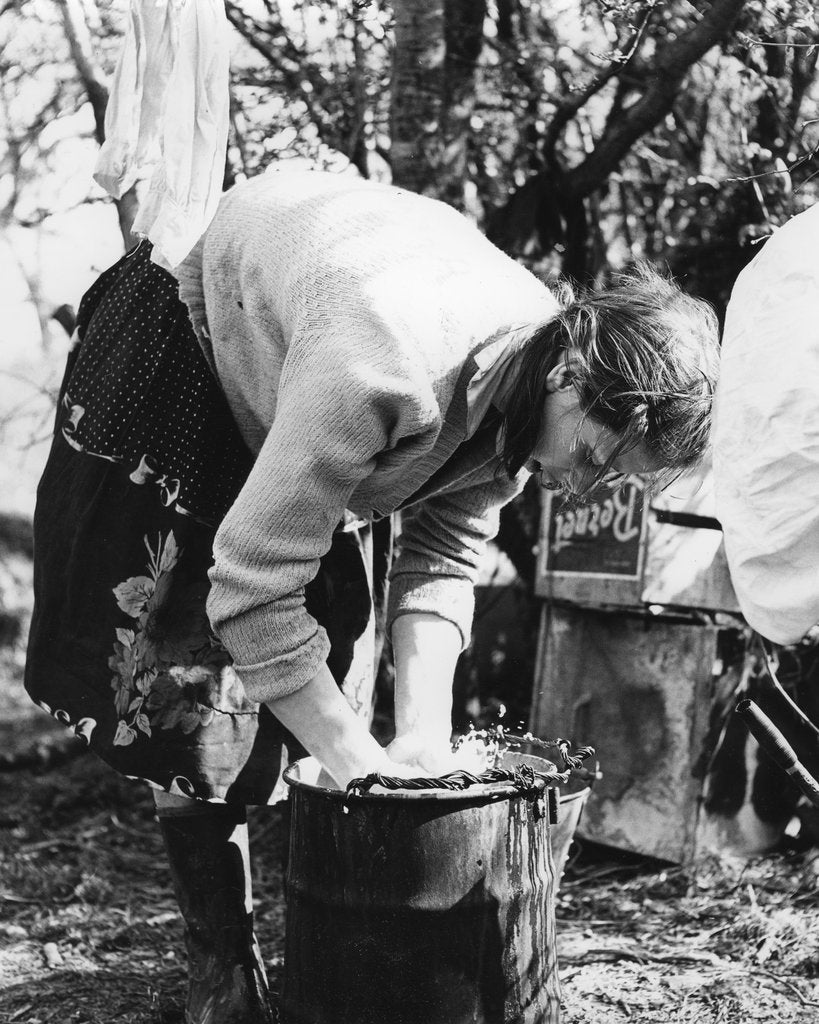 Detail of Woman doing the washing, Charlwood, Surrey, 1960s(?) by Tony Boxall