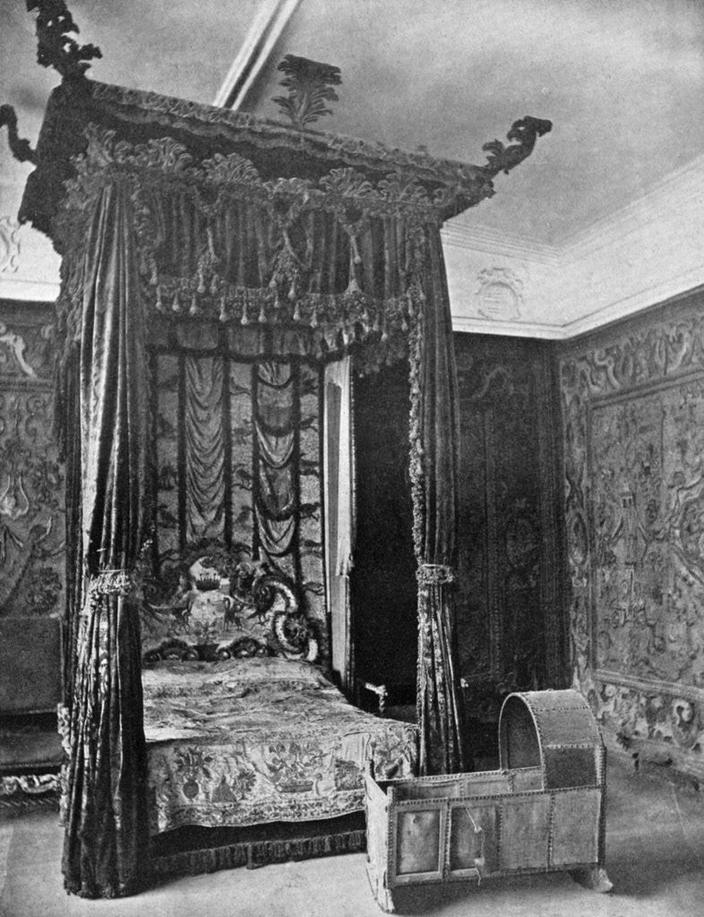Detail of Queen Elizabeth's bed, Haddon Hall, Derbyshire by Anonymous
