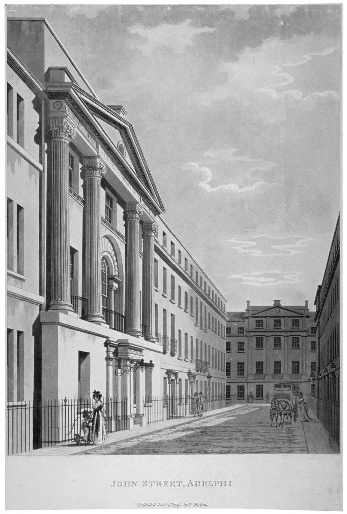 Detail of View of John Adam Street, Westminster, London by