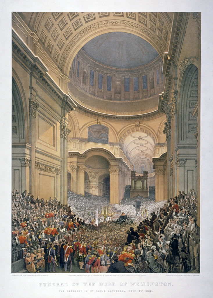 Detail of Interior of St Paul's Cathedral during the funeral of the Duke of Wellington, London, 1852 (1853) by