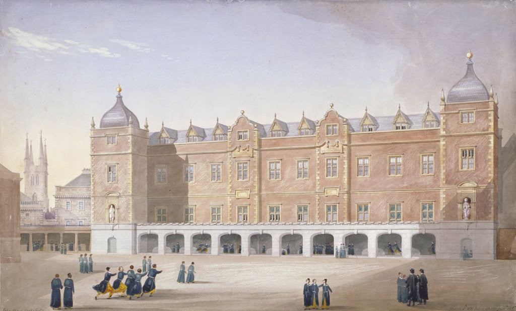 Detail of Christ's Hospital School, Newgate Street, City of London by John Shaw