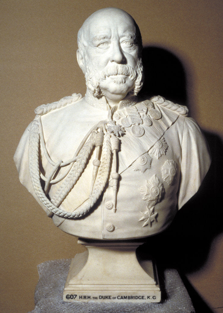 Detail of Portrait bust of the Duke of Cambridge, British soldier by Francis John Williamson