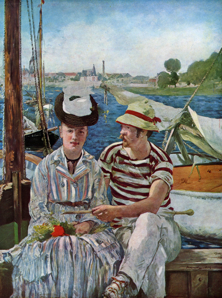 Detail of Argenteuil by Edouard Manet