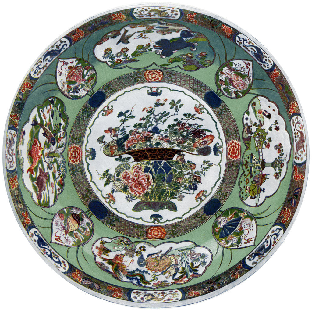 Detail of A Chinese porcelain dish of the Kang-he period by Anonymous
