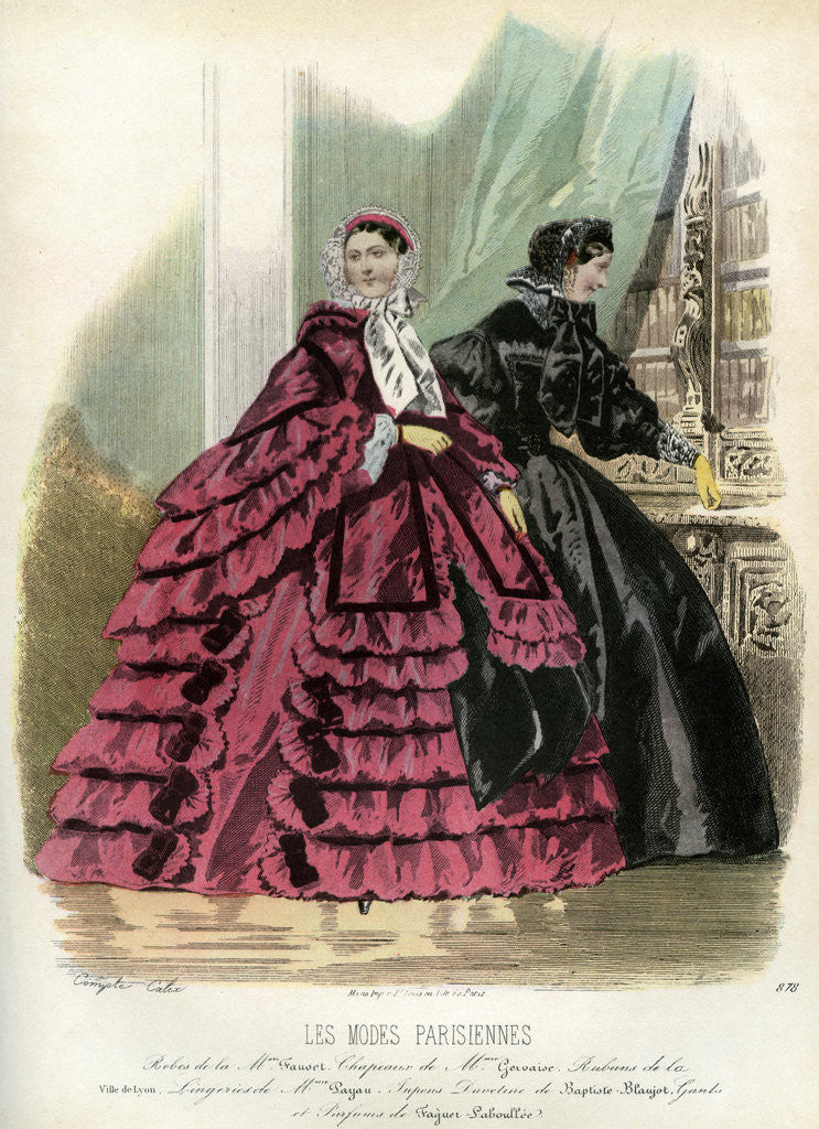 Detail of Parisian fashions of the 19th century by Anonymous