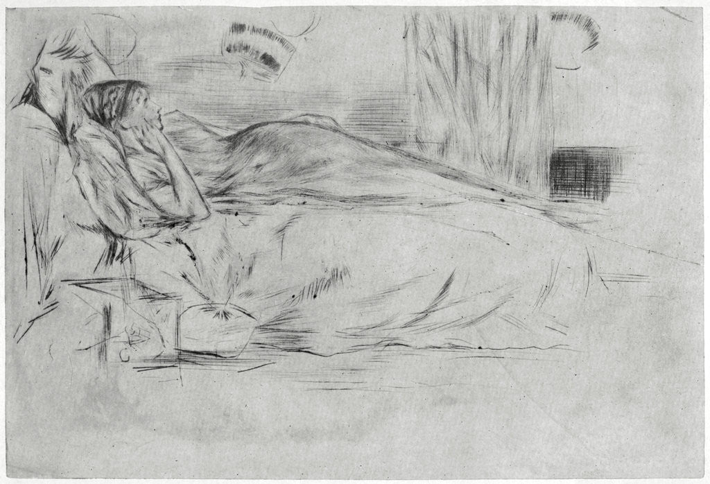 Detail of The Model, Lying Down by James Abbott McNeill Whistler