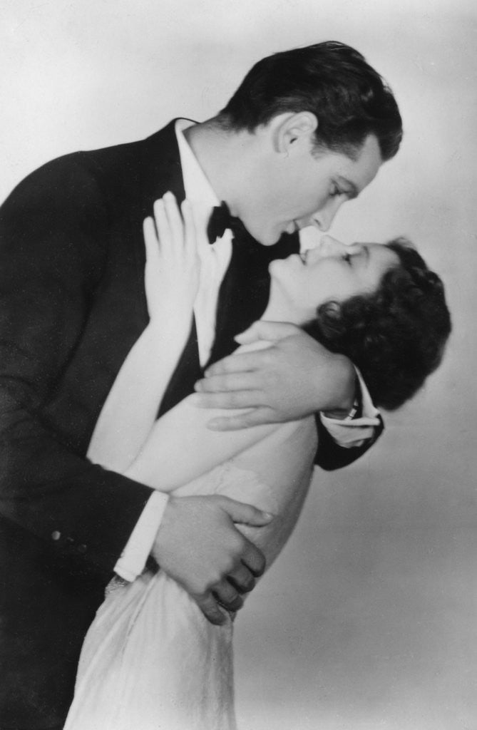 Detail of Janet Gaynor (1906-1984) and Charles Farrell (1901-1990), American actors by Anonymous