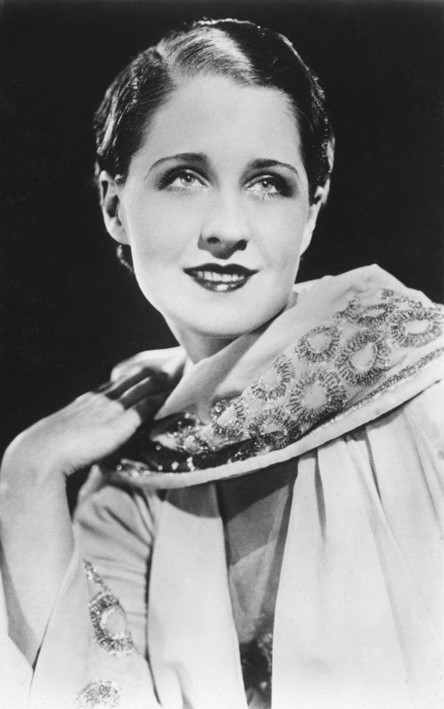 Detail of Norma Shearer (1902-1983), Canadian-born American actress by Anonymous