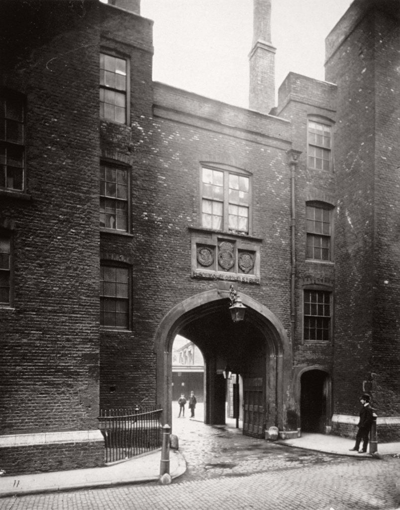 Detail of View of Lincoln's Inn Gatehouse, Holborn, Camden, London by