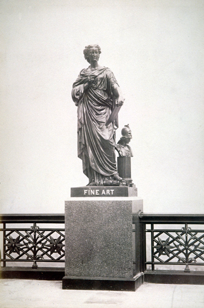 Detail of Bronze statue of Fine Art, located on the north parapet of Holborn Viaduct, London by Henry Dixon