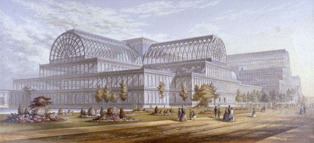Detail of View of the Crystal Palace and its surrounding park, Sydenham, Bromley, London by Anonymous