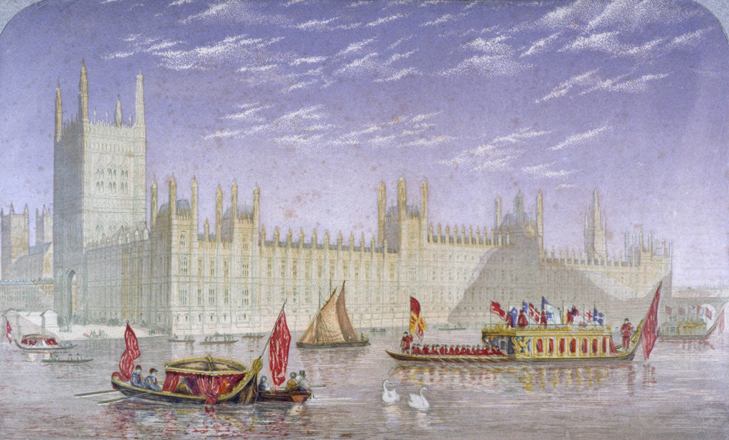 Detail of The Palace of Westminster, London by