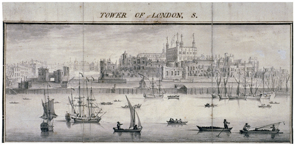 Detail of Tower of London, Stepney, London by