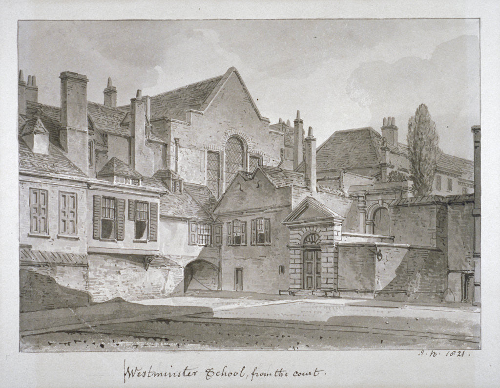 View of Westminster School in Little Dean's Yard, Westminster, London by John Chessell Buckler