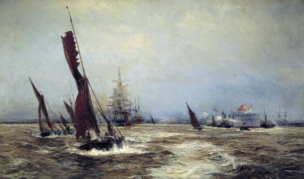Detail of Commerce and Sea Power by William Lionel Wyllie