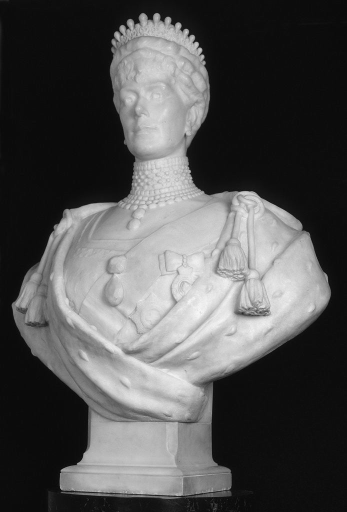 Detail of Bust of Queen Mary, consort of King George V by George Frampton