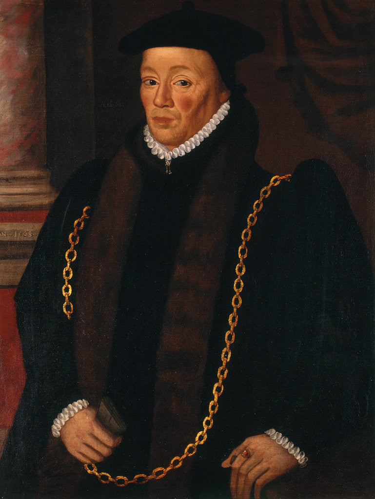 Detail of Sir William Garrard, Lord Mayor 1555 by Anonymous