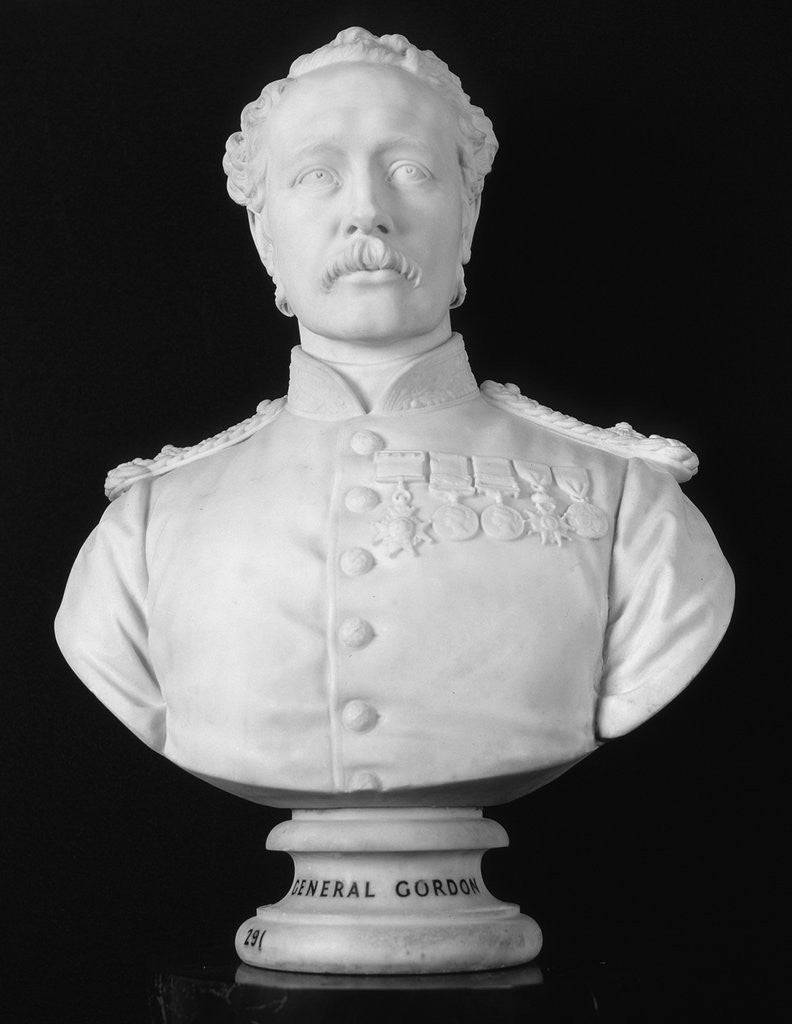 Detail of Bust of General Charles Gordon, British soldier and administrator by William Theed